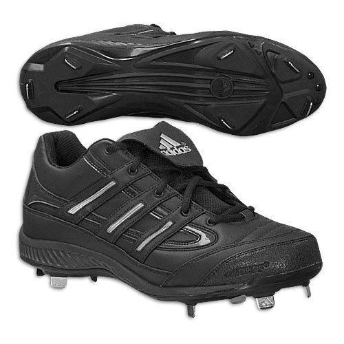 Adidas Spinner 7 Low Mens Baseball Cleats Black/Black/Mtsilv sast cheap price lQo0K