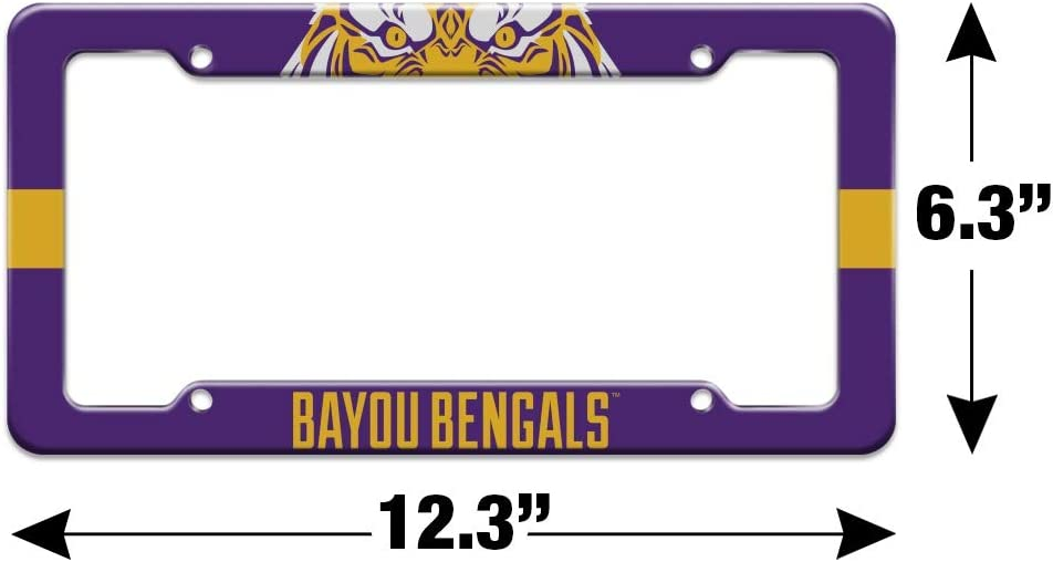 Graphics and More Bayou Bengals Fierce Tiger License Plate Tag Frame