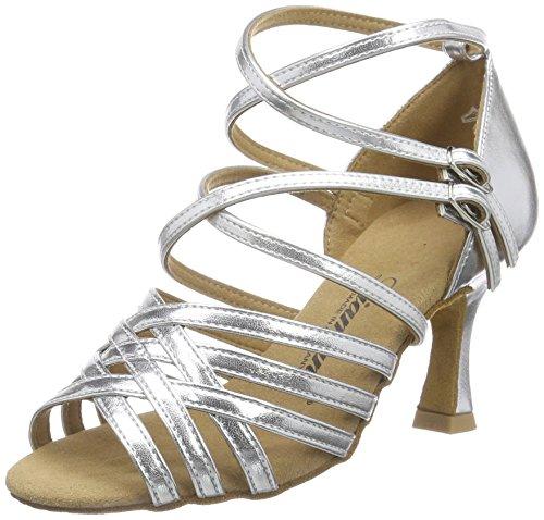 Diamant Diamant Damen Latein Tanzschuhe 108-087-013 - Zapatos de danza moderna/jazz Mujer Plateado - Silber (Silber)