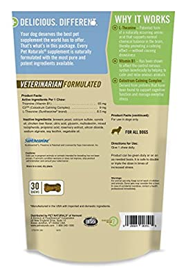 Calming for Dogs, Natural Behavior Support Formula, 30 Bite Sized Chews