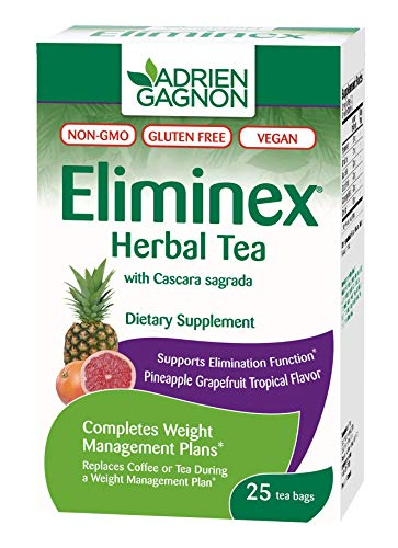 (Adrien Gagnon - Eliminex Herbal Tea Pineapple Grapefruit, for Elimination of Intestinal Waste, 25 Tea Bags)