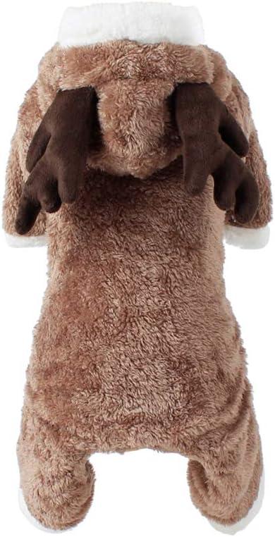 UKCOCO Haustier Kost/üm Hund Weihnachtsanzug Hund Elch Kost/üm Hund Overall Pet Puppy Supplies Gr/ö/ße M