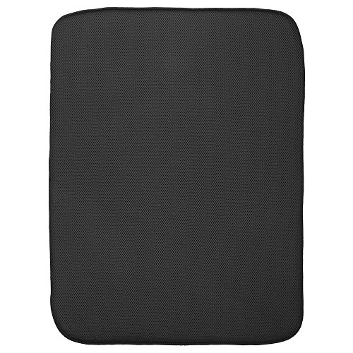 InterDesign iDry Kitchen Mat, 24 x 18 - Extra Large, Noir