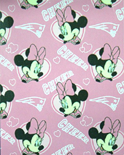 The Northwest Company Officially Licensed New England Patriots Minnie Mouse Cheer Fleece Throw Blanket (40
