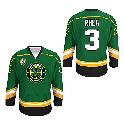 c6cfe41cbb32 borizcustoms Ross The Boss Rhea ST John s Shamrocks Hockey Jersey with EMHL  Patch Stitch (54