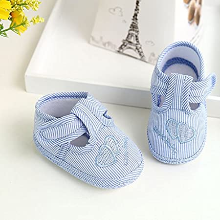 Newborn Baby Boy Girl Shoes Infant Sneakers Toddler PreWalker Pumpkin 0-3M UK