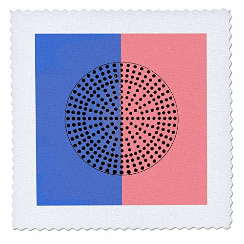 3dRose Alexis Photography - Abstracts - Image of Metal Perforated Circle. Black Hole Sun. Blue, Pink Colors - 20x20 inch Quilt Square (qs_283996_8)