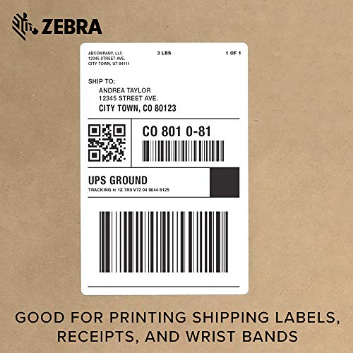 Zebra - GX420d Direct Thermal Desktop Printer for Labels, Receipts, Barcodes, Tags, and Wrist Bands - Print Width of 4 in - USB, Serial, and Parallel Port Connectivity (Includes Cutter) by Zebra Technologies (Image #6)