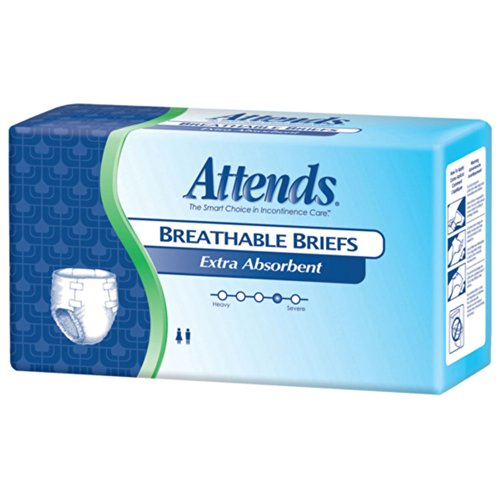 Attends Breathable Briefs Extra Absorbent- Extra Large 58in-63in 60 Each, 60 ea Attends Breathable Extra Absorbent