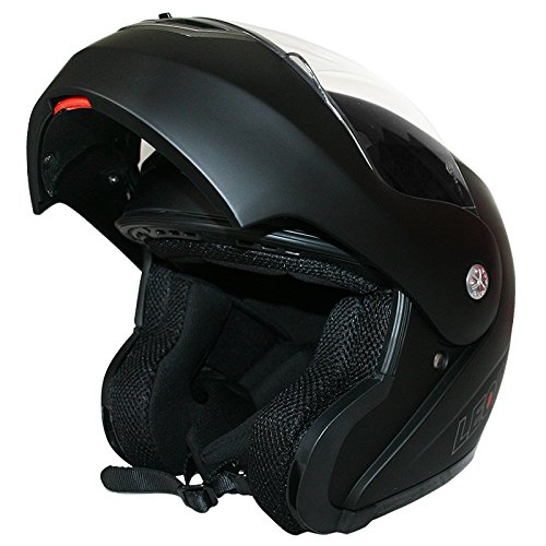59-60cm Leopard LEO-727 Anti-Fog Visor Motorbike Flip up Bluetooth Helmet Motorcycle Double Visor Pinlock Lens Matt Black//Yellow L