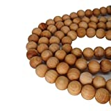 CarpenterC 500pcs 8mm Gorgeous Natural Round Polished Rosewood Loose Beads for Jewelry Making DIY Handmade Craft