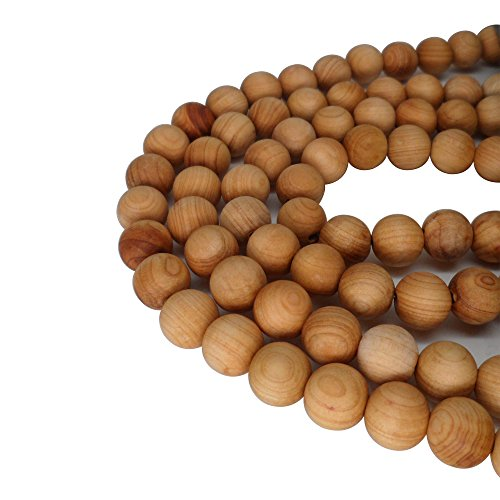 CarpenterC 200pcs 6mm Gorgeous Natural Round Polished Rosewood Loose Beads For Jewelry Making DIY Handmade Craft (Beads Wood Rosewood)