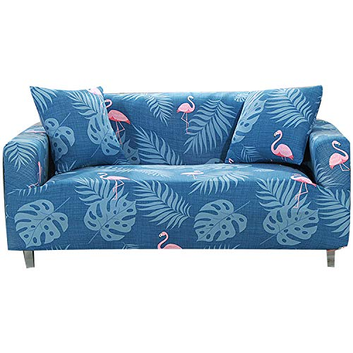 FORCHEER Stretch Couch Cover Printed Pattern 3 Seater Sofa Slipcovers for Living Room Furniture Protector Pet Pams Polyester Spandex Fabric1PC (Sofa, Flamingo)