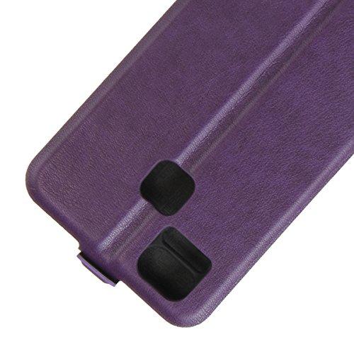 Para Asus ZenFone 3 Zoom ZE553KL Caso compacto de piel PU, arriba-abajo piel abierta PU Funda de piel con ranura para tarjeta y función de protección completa con cierre magnético Caja a prueba de gol Púrpura