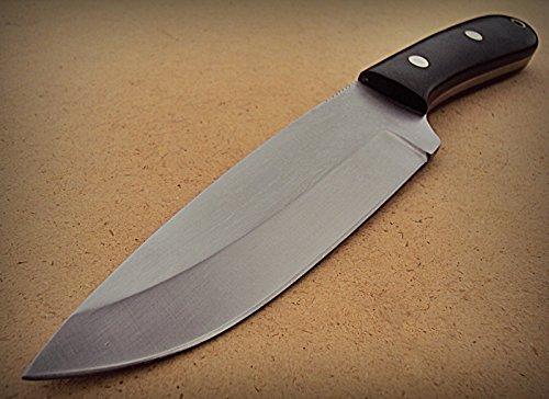 Sk-195, Custom Handmade 440c Stainless Steel Knife – Canvas Micarta Handle
