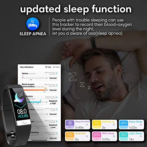 GOGUM Fitness Tracker, Heart Rate Monitor IP68 Waterproof Activity Tracker HRV Health Watch SPO2 Blood Oxygen Blood Pressure with Sleep Monitor and 11 Sport Modes for Women and Men 2