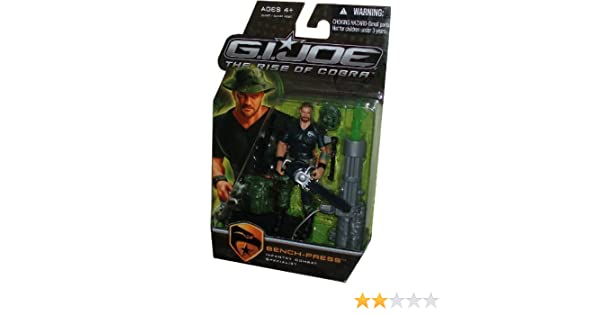 Shotgun Booney Hat GI Joe Movie Series The Rise of Cobra Exclusive 4 Inch Tall Action Figure Chainsaw Missile Launcher with Green Missile and Display Stand Infantry Combat Specialist BENCH-PRESS with Backpack Hatchet