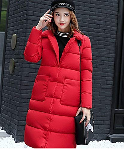 Parka Cozy Solid Winter Colors Sleeve Warm Targogo Pockets Buttons Coats Front Outerwear Jacket Women's Rot Fit Lapel Slim Down Long ORqwccFYT