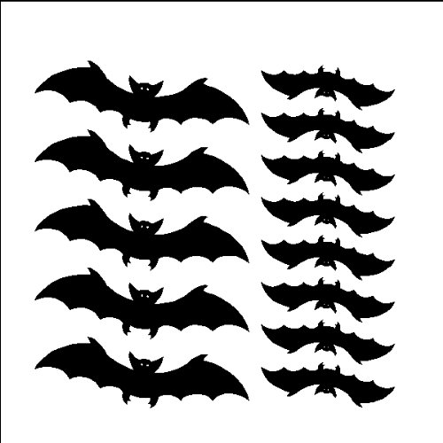 13 bats decals stickers halloween removable bat wall art peel and stick black amazoncom