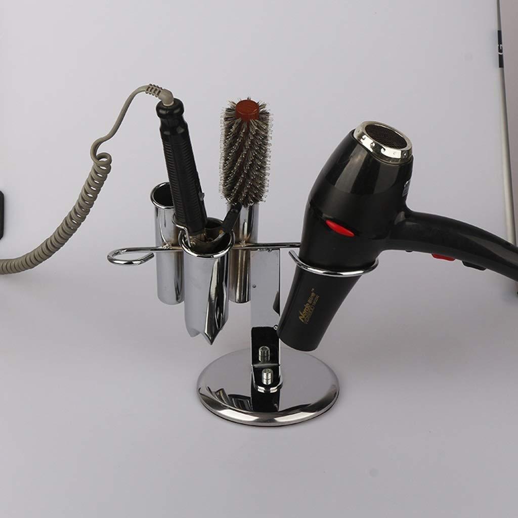 LOSYU Free Standing Spiral Hair Dryer Holder, Acrylic + Stainless Steel Barbershop Blow Dryer Rack, Hair Care Styling Tool Organiser, Hair Straightener Holder by LOSYU