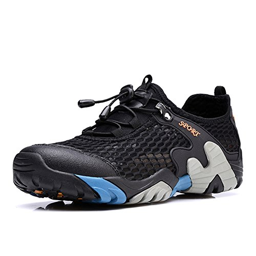 CraneLin+Men%27s+Outdoor+Hiking+Shoes+for+Men+Walking+Sneaker+Boating+Water+%26+Trail+Shoes+CRHW2031-Black-42