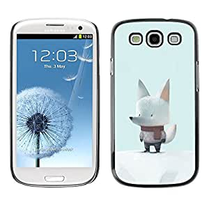 For SAMSUNG Galaxy S3 III / i9300 / i747 Case , Mignon Écharpe - Diseño Patrón Teléfono Caso Cubierta Case Bumper Duro Protección Case Cover Funda