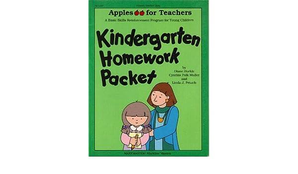 homework packets for kindergarten