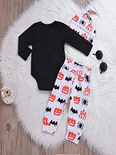 Niños Halloween Carnaval, Sonnena ❤ Carta de bebé recién nacido mameluco Tops Calabaza Prin Pantalones Cap Halloween Clothes Sets: Amazon.es: Hogar