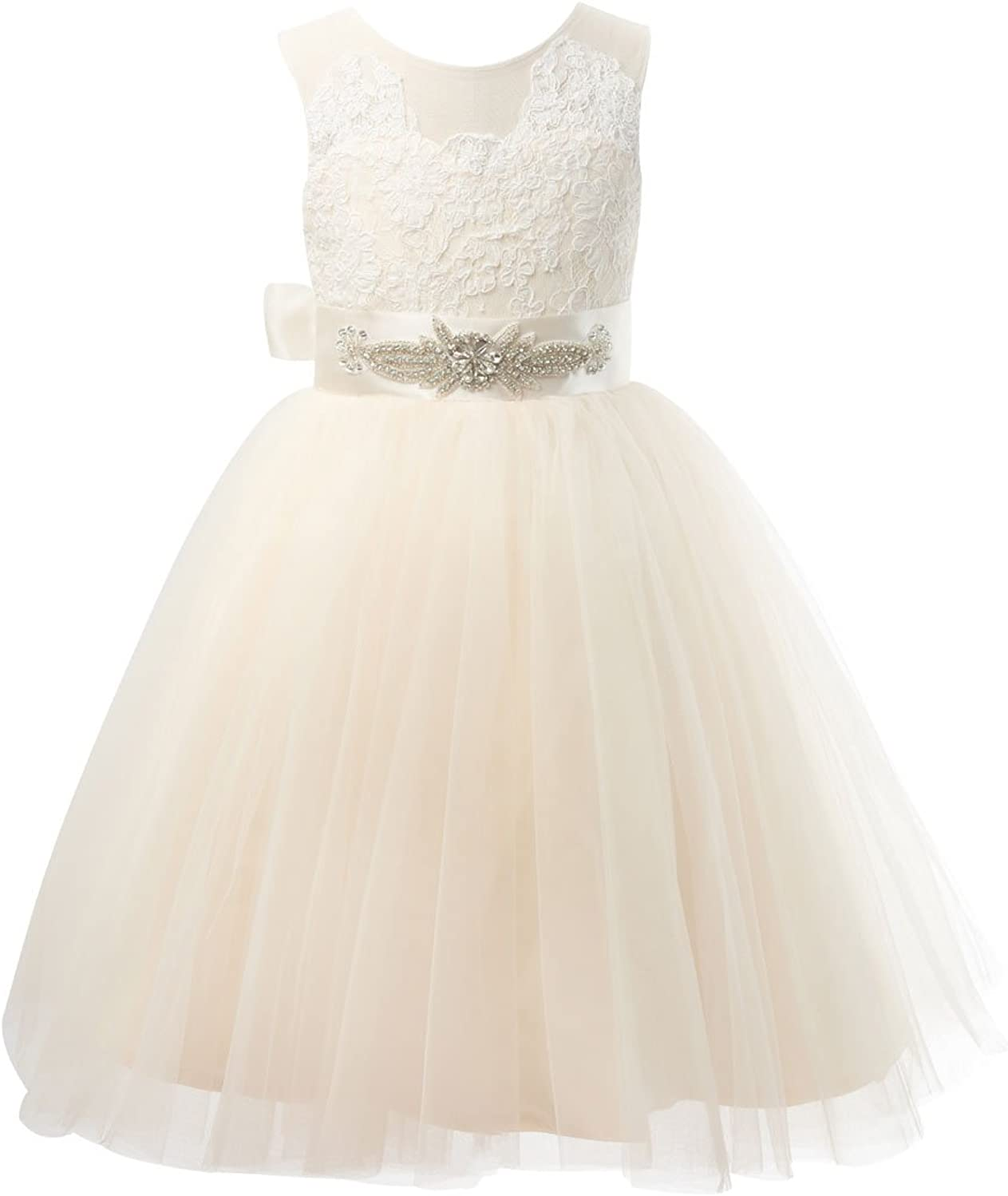 Miama Sheer Back Champagne Tulle