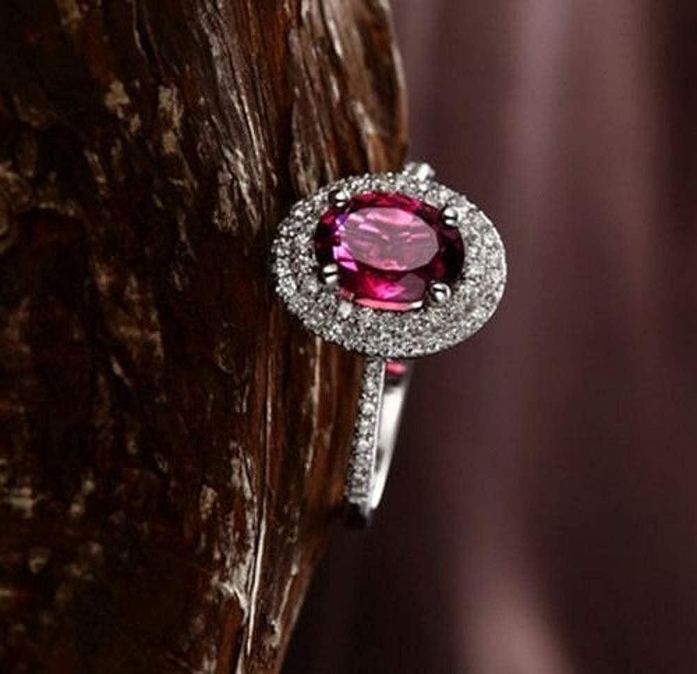 Eshita 1.50 Ct VVS1 Diamond /& Pink Sapphire Oval Engagement Wedding Halo Ring