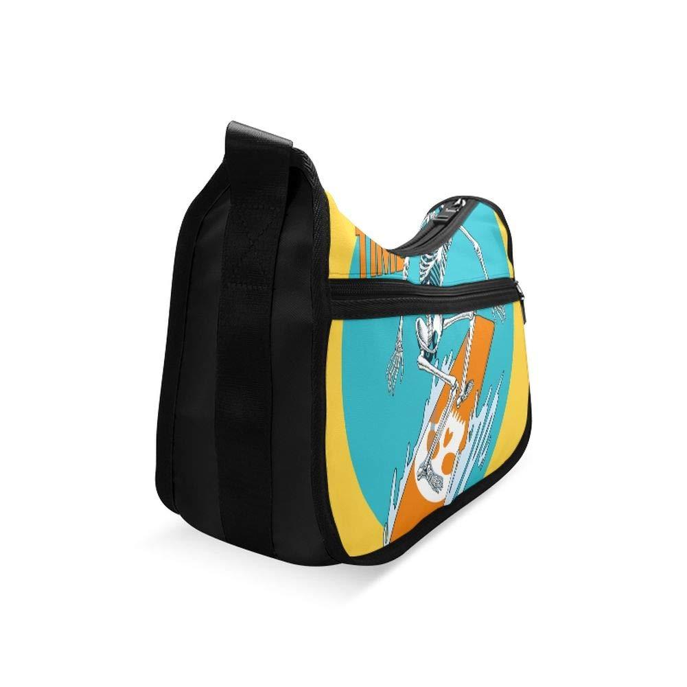 The Skeleton Of A Deep Adventure Surfer Messenger Bag Crossbody Bag Large Durable Shoulder School Or Business Bag Oxford Fabric For Mens Womens