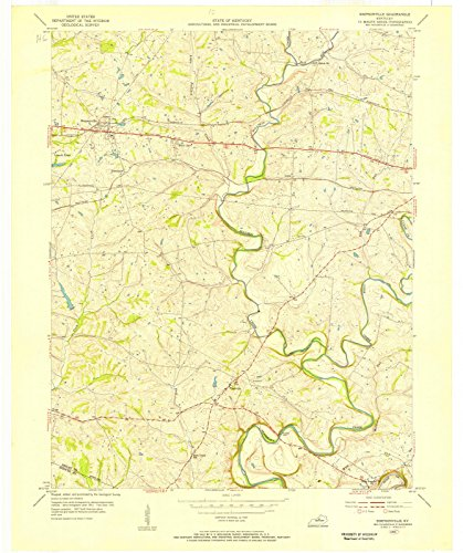 Kentucky Maps | 1954 Simpsonville, KY USGS Historical Topographic Map |Fine Art Cartography Reproduction - Ky Simpsonville