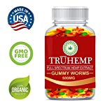 Premium Full Spectrum Hemp Extract Worms Gummy – Safe and Natural – Made in USA – 500MG Total, 14MG Each – Great for Skin, Relaxing, Pain, Stress & Anxiety Relief (Worms)