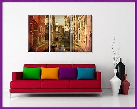 Bilderdepot24 Bastidor Imagen - Cuadros en Lienzo Venecia Urban ...