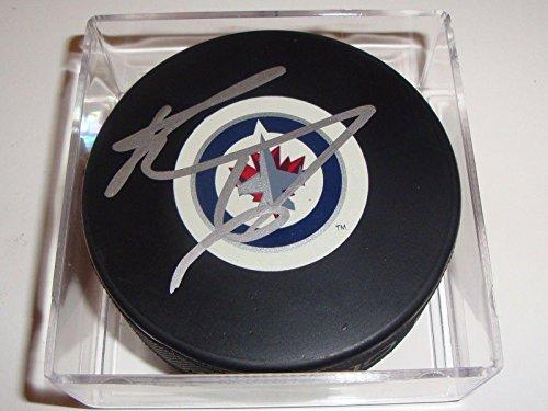Ron Hainsey Signed Puck w/COA Winnipeg Jets Inaugural Autograph Souvenir 2011 A - Autographed NHL Pucks - Signed Winnipeg Jets