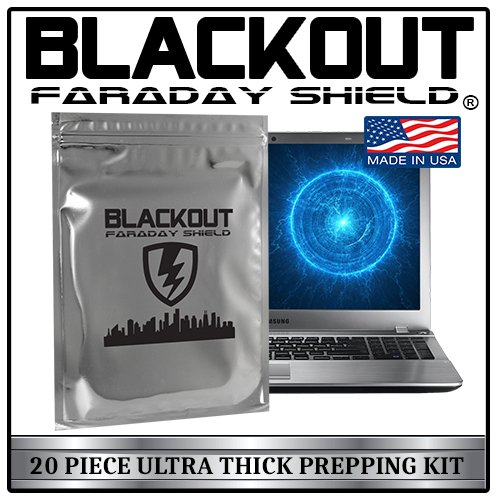 Faraday Cage EMP BLACKOUT Bags Premium Ultra Thick 20pc P...