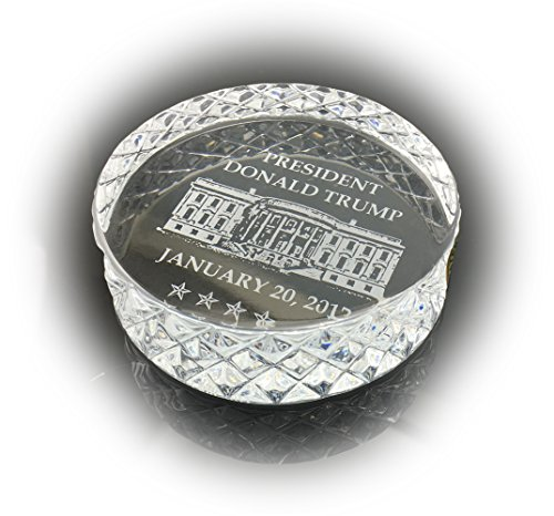 Waterford Crystal 2017 Inauguration Paperweight President Donald Trump