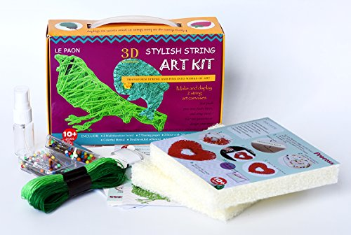 3D bird and fish Stylish String Art Kit ,A Fantastic New Way To Make String Pattern Craft Set,Creativity For Kids, Adult ,Starter All necessary Crafting Supplies included in set(Suit 3)