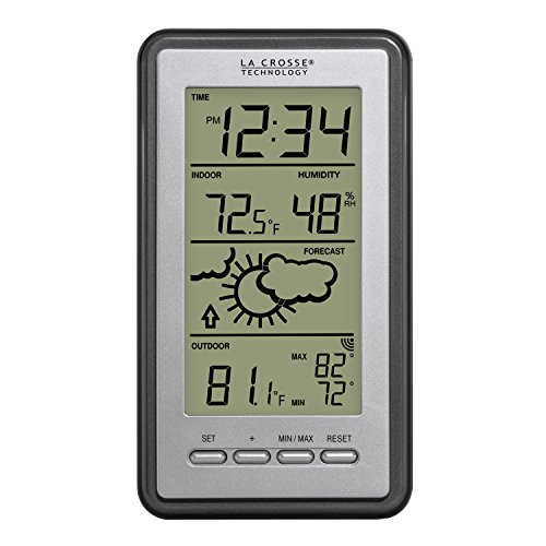 La Crosse Technology WS-9230U-IT-INT Digital Forecast Thermometer with Temp & Humidity ()