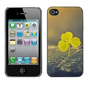Be Good Phone Accessory // Dura Cáscara cubierta Protectora Caso Carcasa Funda de Protección para Apple Iphone 4 / 4S // Irish st Patrick's day green vignette clover