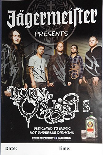 Signed Born Of Osiris Autographed Poster Full Band w/Pics -
