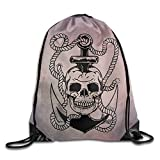 D2 Cute SKULL Sackpack White Size