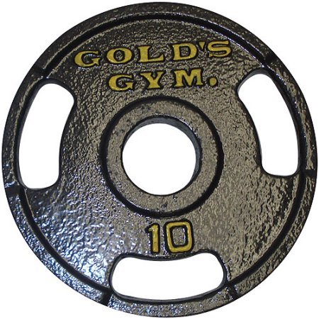 Gold's Gym Grip Plate (10 Lbs., Set of 2) by Golds Gym