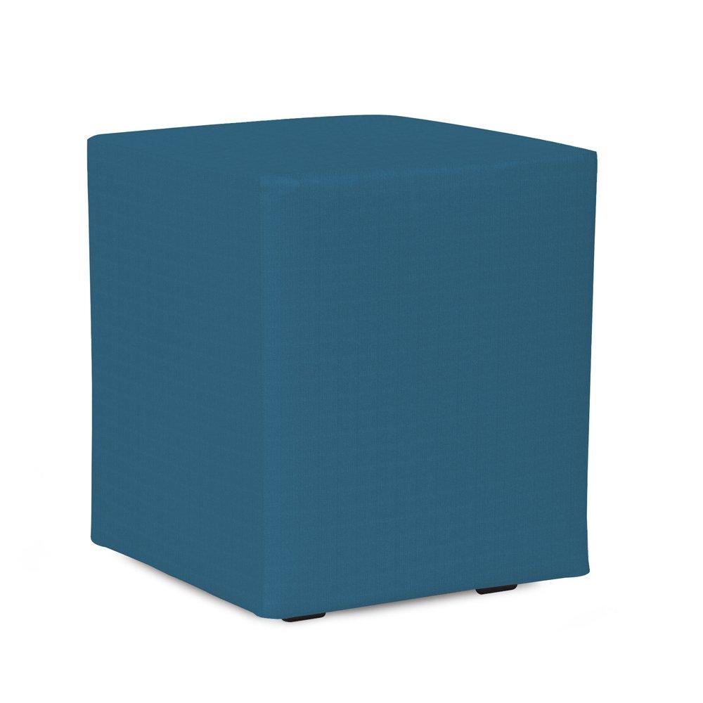 Howard Elliott Q128-298 Universal Cube Patio Ottoman, Seascape Turquoise