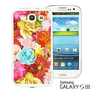 OnlineBestDigitalTM - Flower Pattern Hardback Case for Samsung Galaxy S3 III I9300 - Red Oil Painting Flower