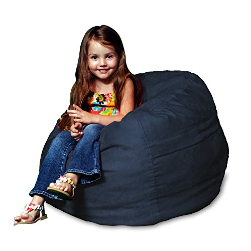 Chill Sack Bean Bag Chair: Large 2' Memory Foam Furniture Bean Bag - Big Sofa with Soft Micro Fiber Cover - Navy