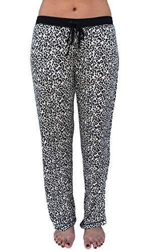 Hello Cozi Womens Super Soft Pajama Pants with Drawstring in Cute Prints, Leopard, L