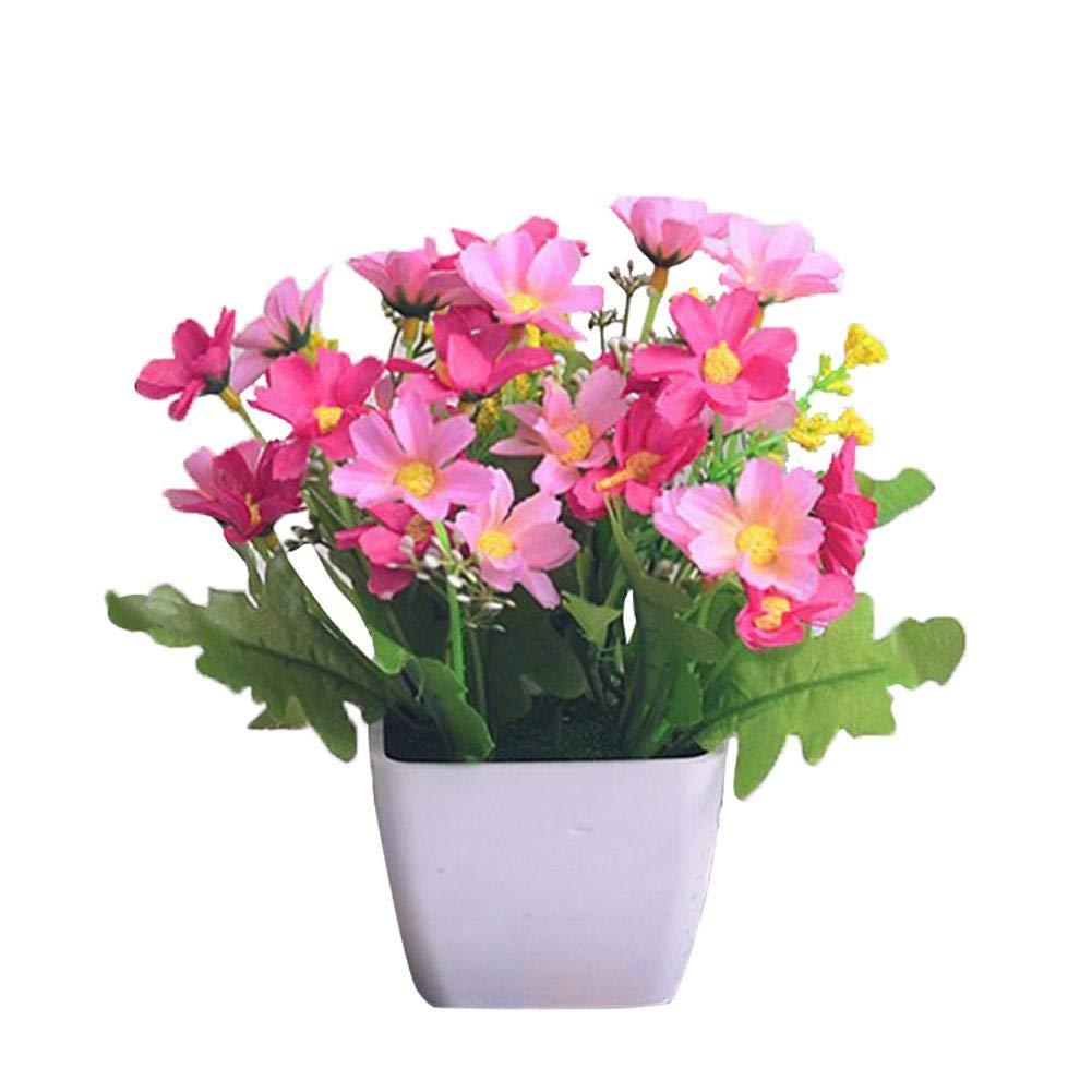 Petits Ornements Rebord De La Fen/être D/écorations De Jardin /À La Maison De Bricolage Usine De Fleurs Artificielles Mini Plante En Pot Orchid/ée Sautante