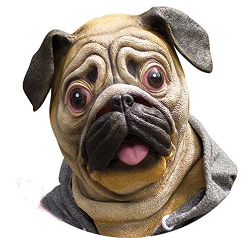 Miyaya@ Special New Latex Full Head Overhead Animal Cute Bulldog Mask for Mask Festival、halloween、easter or Dance -