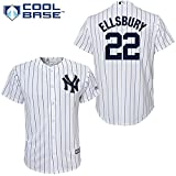 Majestic Jacoby Ellsbury New York Yankees #22 MLB Youth Cool Base Home Jersey (Youth Large 14/16)